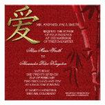 Invitación china del boda del símbolo asiático del