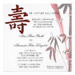 Invitación china del cumpleaños del símbolo asiáti