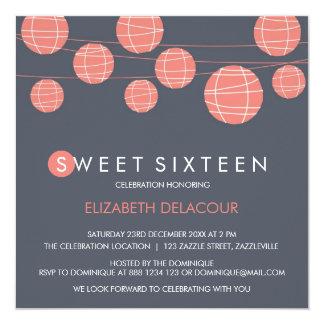 Invitación china del dulce dieciséis de las