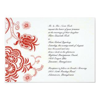 Invitación china roja del fondo