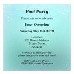 Invitación chispeante de la fiesta en la piscina d