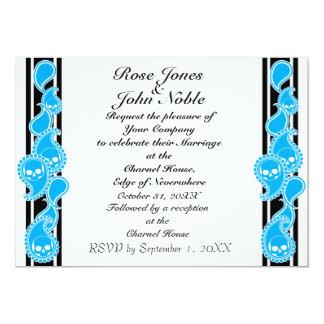 Invitación (ciánica) anversa del boda