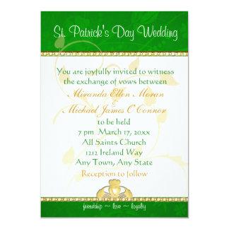 Invitación Claddaugh del boda del día de St