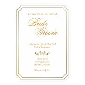 Invitación clásica 9 del boda - el boda invita invitación 12,7 x 17,8 cm