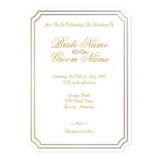 Invitación clásica 9B del boda - el boda invita Invitación 12,7 X 17,8 Cm