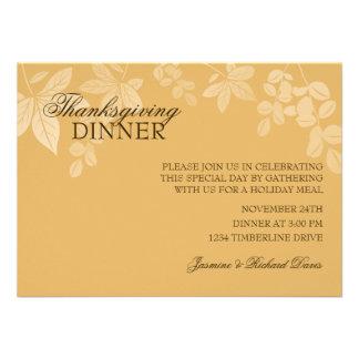 Invitación clásica de la cena de la acción de grac