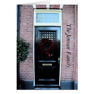 Invitación clásica de la dirección de la puerta pr felicitacion