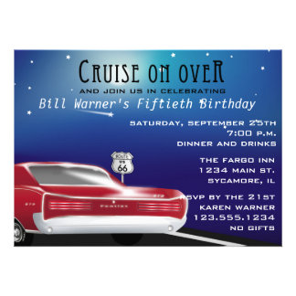 Invitación clásica de la fiesta de cumpleaños del