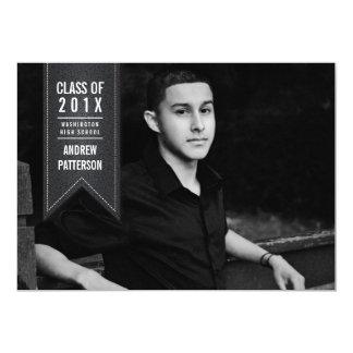 Invitación clásica de la foto de la graduación de