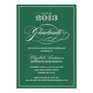 Invitación clásica de la graduación