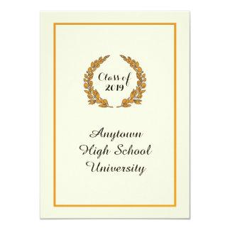 Invitación clásica de la graduación del estilo