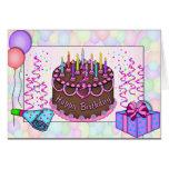 Invitación clásica de la torta de cumpleaños tarjetas
