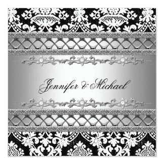Invitación clásica del banquete de boda del