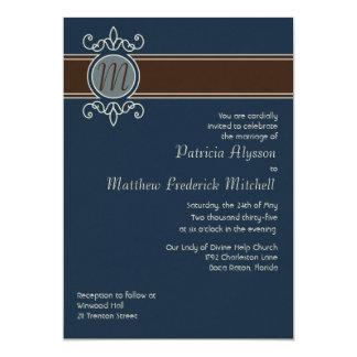 Invitación clásica del boda de la cosecha del invitación 12,7 x 17,8 cm