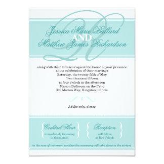 Invitación clásica del boda de la elegancia