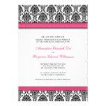 Invitación clásica del boda del damasco (cinta fuc