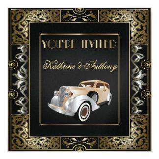 Invitación clásica del boda del estilo de Gatsby