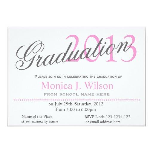 Invitación clásica del chica, elegante rosada de