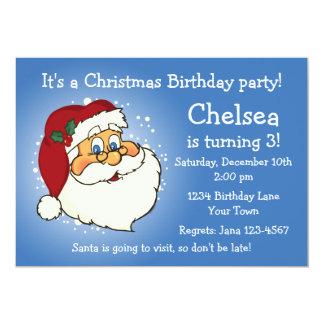 Invitación clásica del cumpleaños de Santa