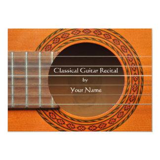 Invitación clásica del decreto de la guitarra invitación 12,7 x 17,8 cm