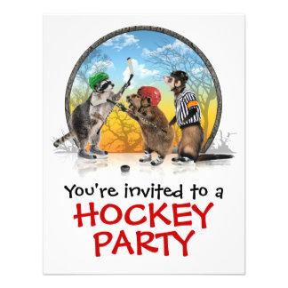 Invitación clásica del fiesta del Critter del hock