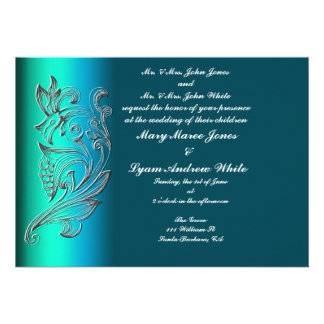 Invitación clásica grabada en relieve del boda de