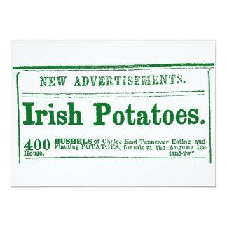 Invitación clasificada era irlandesa de la guerra