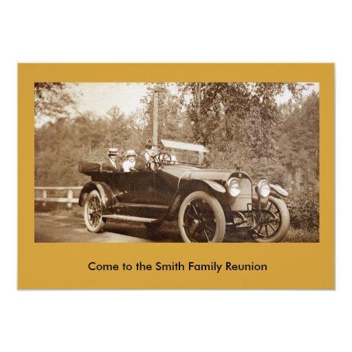 Invitación - coche viejo