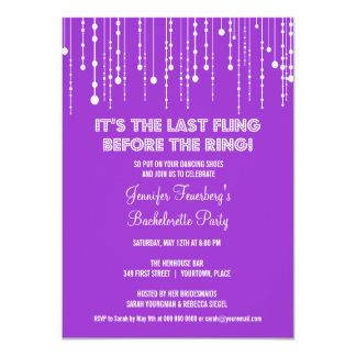 Invitación colgante del fiesta de Bachelorette de Invitación 11,4 X 15,8 Cm