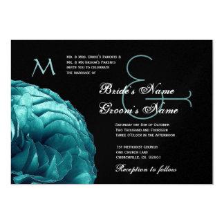 Invitación color de rosa azul del boda de