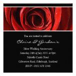 Invitación color de rosa de la fiesta de aniversar
