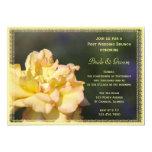 Invitación color de rosa de lujo amarilla del invitación 12,7 x 17,8 cm