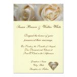 Invitación color de rosa de marfil del boda