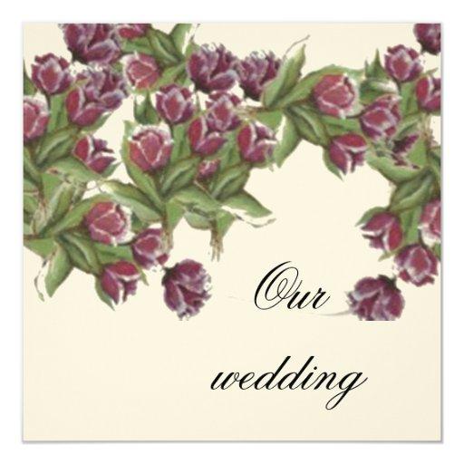 Invitación COLOR DE ROSA del boda