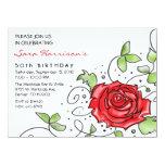 Invitación - color de rosa elegante invitación 13,9 x 19,0 cm