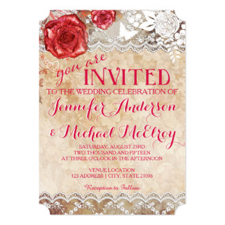 Invitación color de rosa elegante lamentable del invitación 12,7 x 17,8 cm