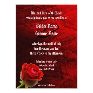 Invitación color de rosa gótica