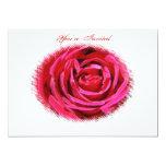 Invitación color de rosa marrón del boda