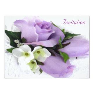 Invitación color de rosa púrpura del boda