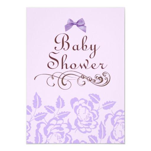 Invitación color de rosa púrpura elegante de la
