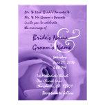 Invitación color de rosa PÚRPURA elegante del boda