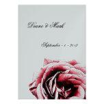Invitación color de rosa rojo oscuro del boda