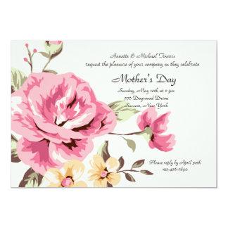 Invitación color de rosa romántica