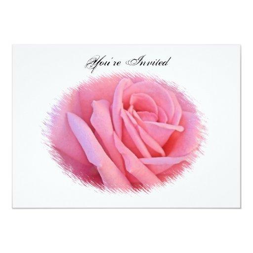 Invitación color de rosa rosada del boda