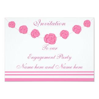 Invitación color de rosa rosada del fiesta de