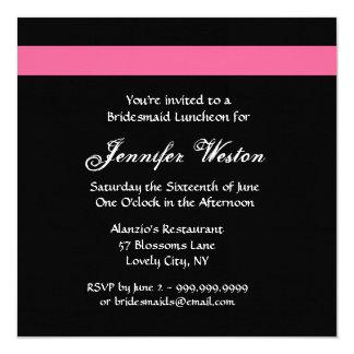 Invitación color de rosa ROSADA y NEGRA del