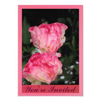 Invitación - color de rosa rosado - multiusos
