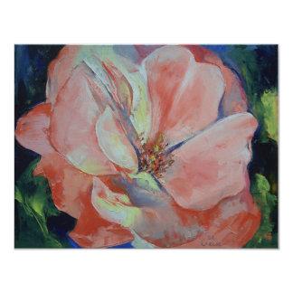 Invitación color de rosa salvaje