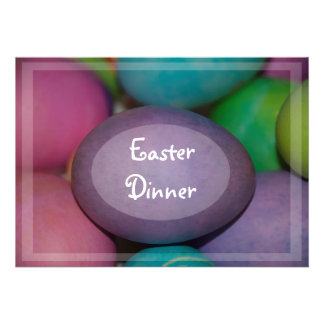 Invitación coloreada de la cena de Pascua de los h