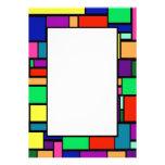 Invitación coloreada de la frontera 1 de los cuadr